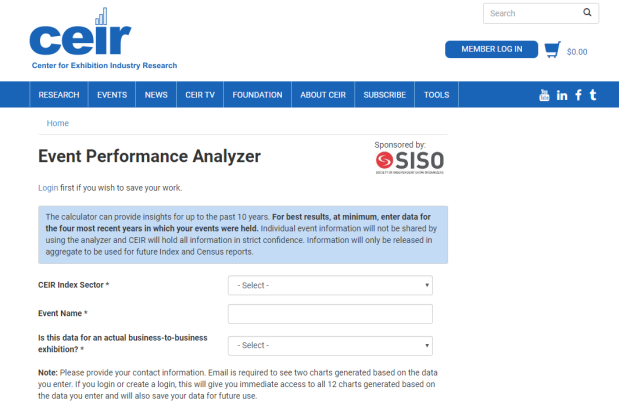 CEIR Event Performance Analyzer